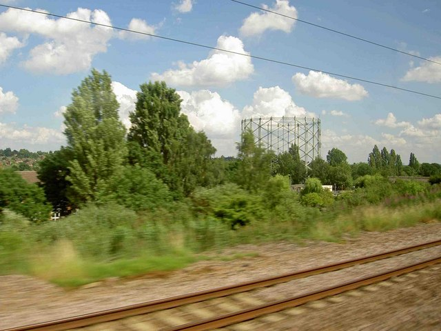 The gasometer structure near New Barnet railway station