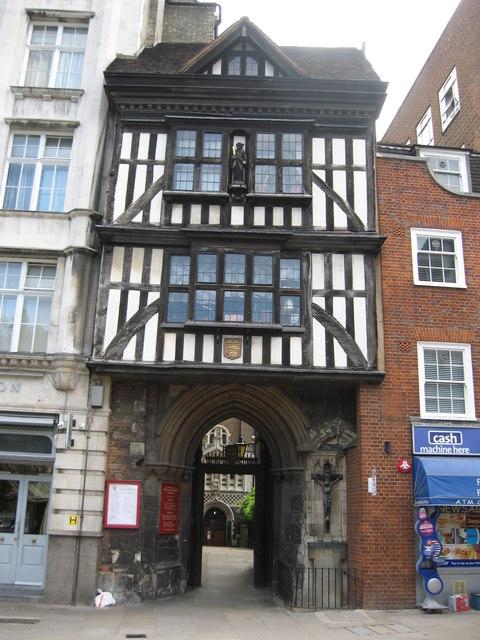Gatehouse to Saint Bartholomew the Great Church, City of London