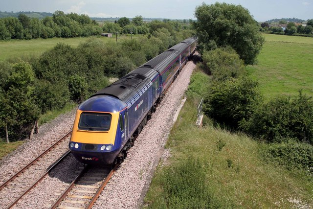 Paddington to Penzance railway nr Oath