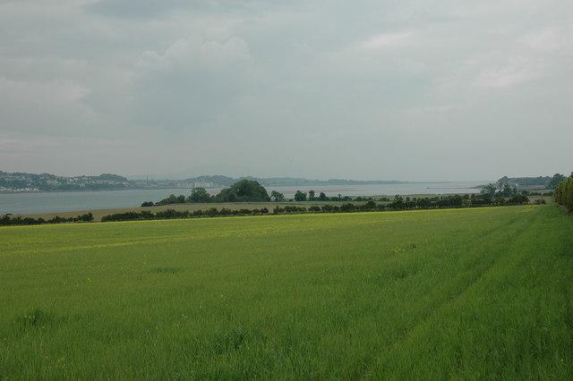 Fields by Menai Strait