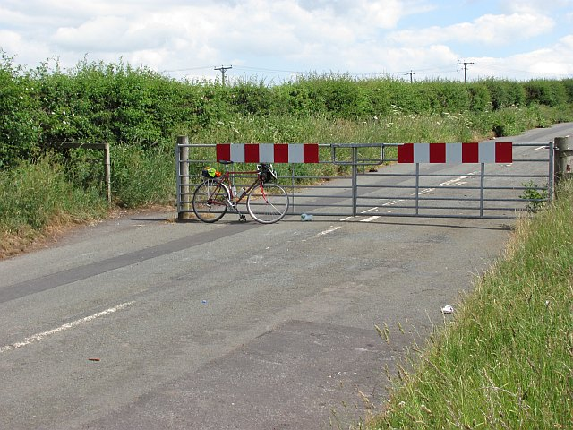 Gate on the former A6091