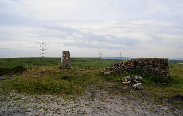 Trig point on Crow Knoll