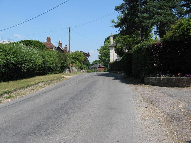 Main road through Graffham village