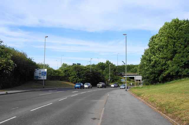 Where Pilsworth Road goes under the M66 Motorway