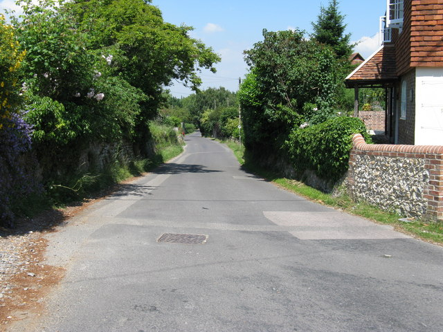 Village street at the southern end of Graffham