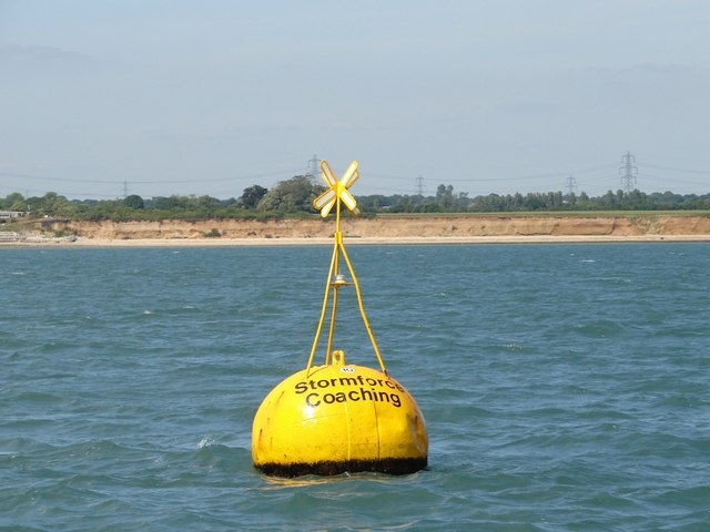 Stormforce Coaching racing buoy and foreshore