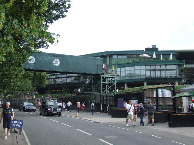 Temporary bridge, Wimbledon tennis