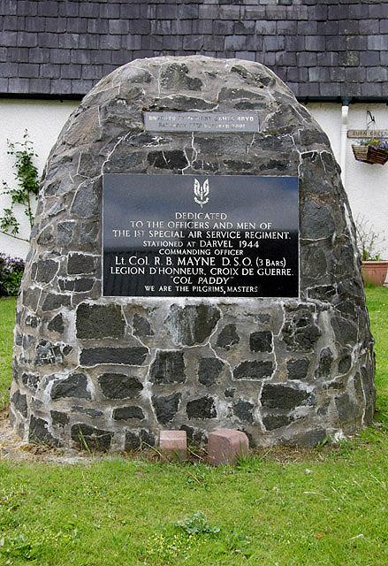 SASR dedication cairn at Darvel