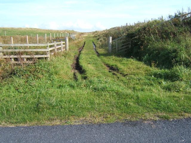 Track north of Port Wemyss