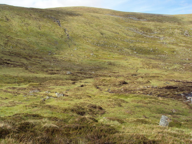 Lower slopes of Carn Ballach
