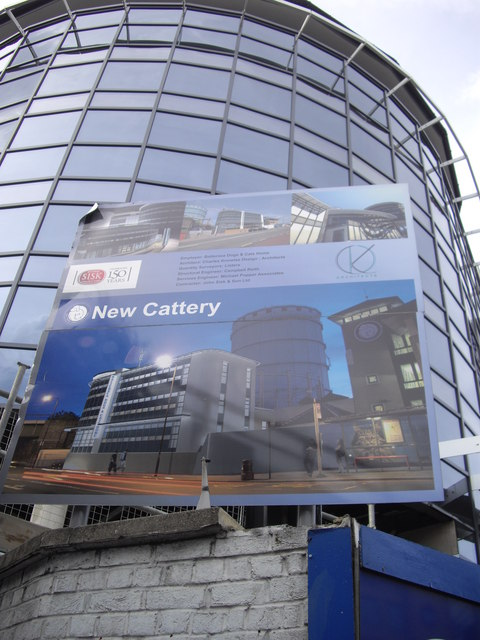 Sign for new Cattery at Battersea Dogs Home