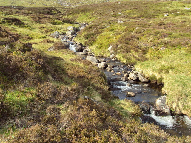 Mountain burn below Carn Ban & Carn Ballach
