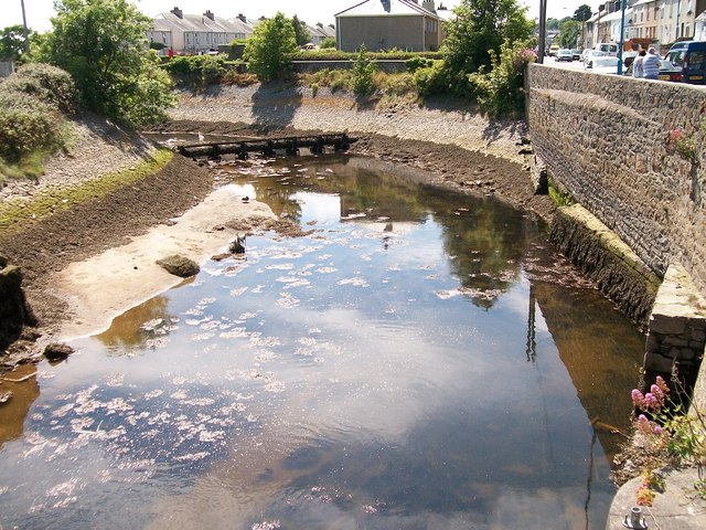 The tidal section of Afon Erch