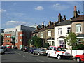 Dist:0.2km<br/>Contrasting new and old housing on Lugard Road, SE15.