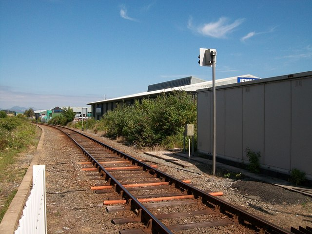 View east from the Pwllheli Goods Level Crossing