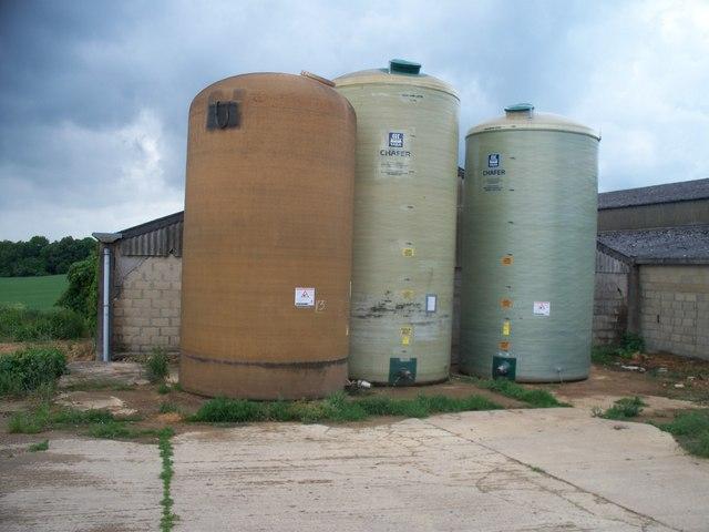 Storage tanks at Dovedale Farm