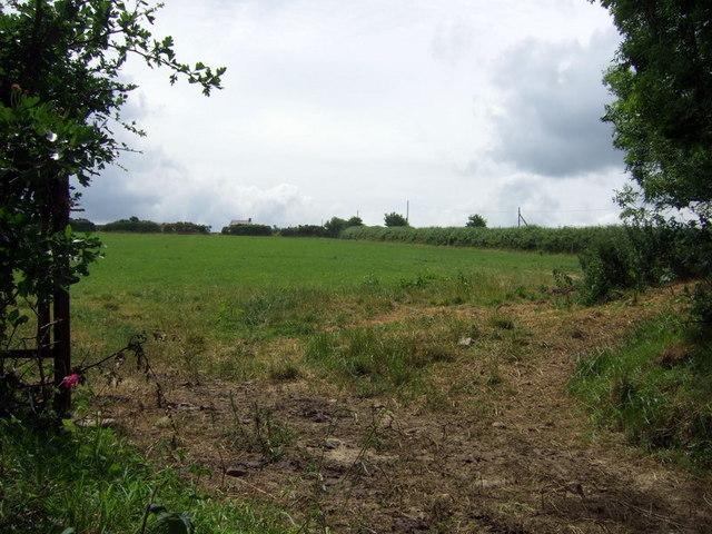 Farm across a field