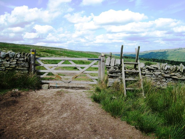 Ladder stile and Gate on the Pennine Way