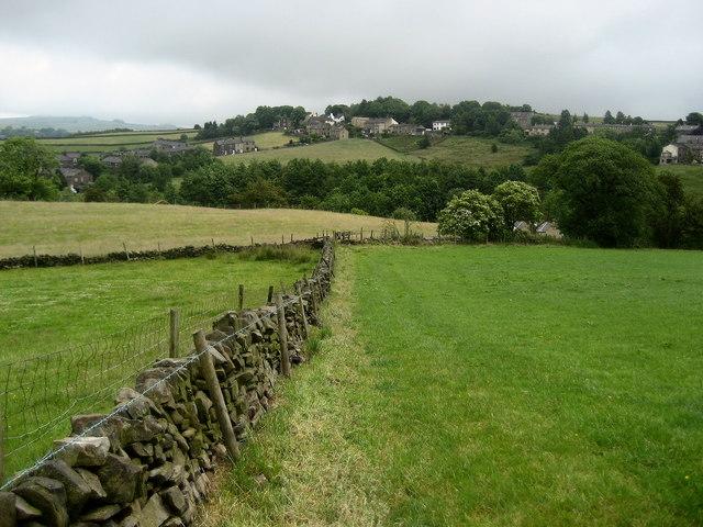 Pastures above Trawden Brook