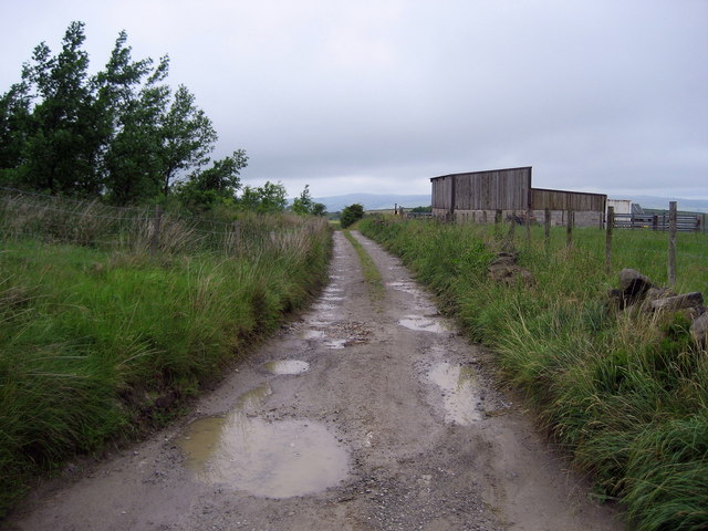 Access Lane from Pasture Springs Farm