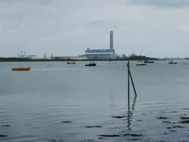 View over the Medway towards Kingsnorth power station