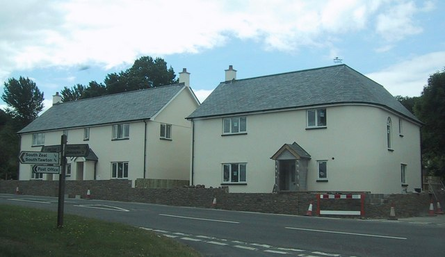 New houses near South Zeal