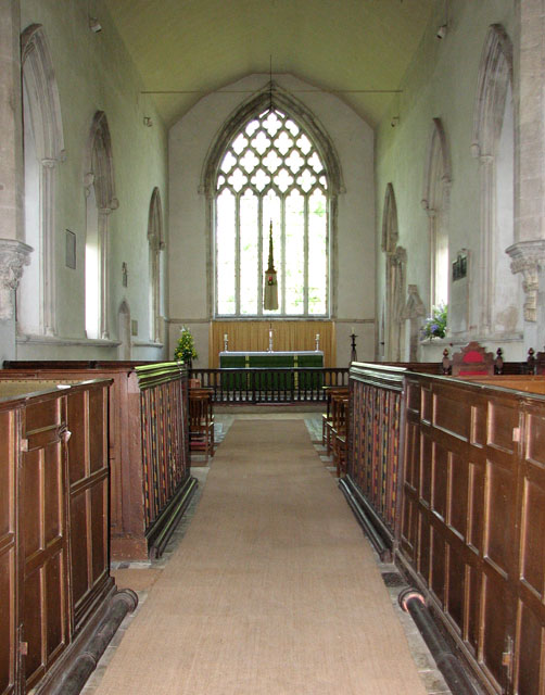 St Mary's church in Dennington - the chancel