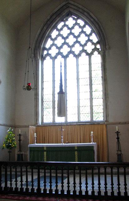 St Mary's church in Dennington - the pyx