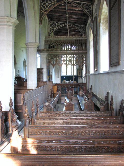 St Mary's church in Dennington - south aisle
