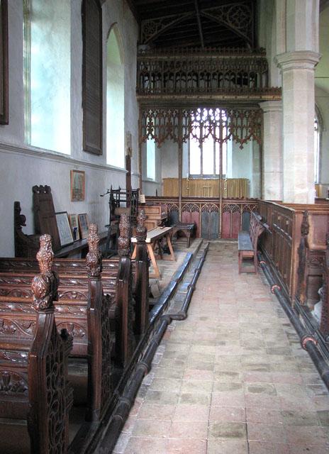 St Mary's church in Dennington - north aisle