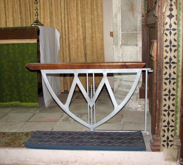 St Mary's church in Dennington - altar rails in N aisle chapel