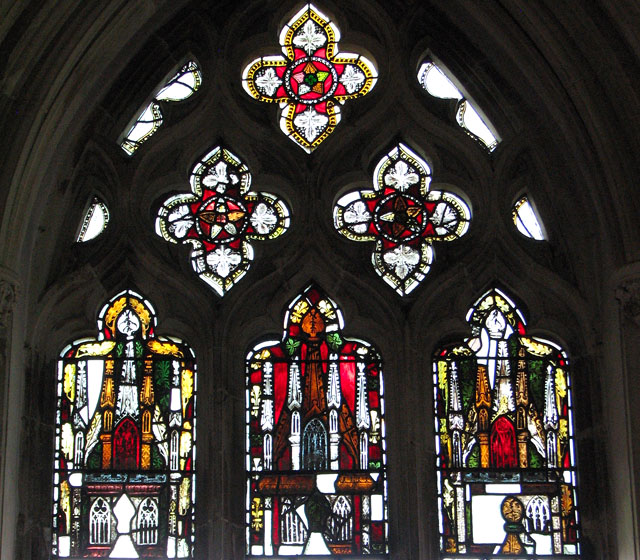 St Mary's church in Dennington - C14 stained glass