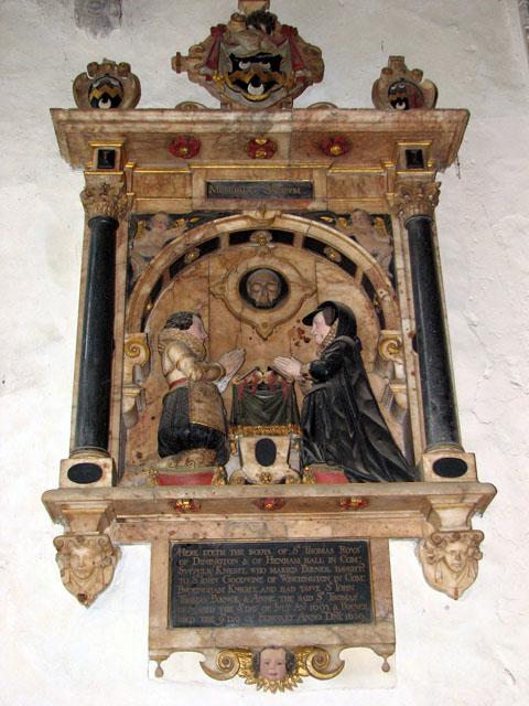 St Mary's church in Dennington - early C17 memorial