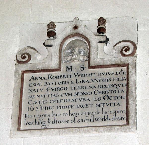 St Mary's church in Dennington - C17 memorial