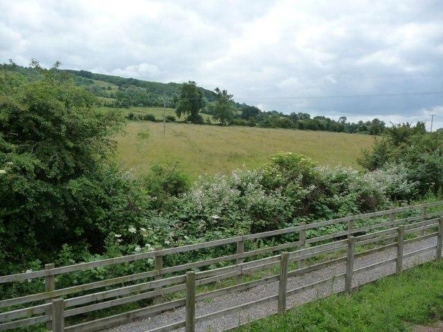 Footpath alongside the railway, Gotherington