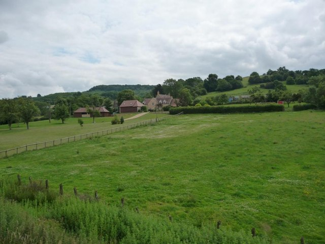 Field between big house and railway line