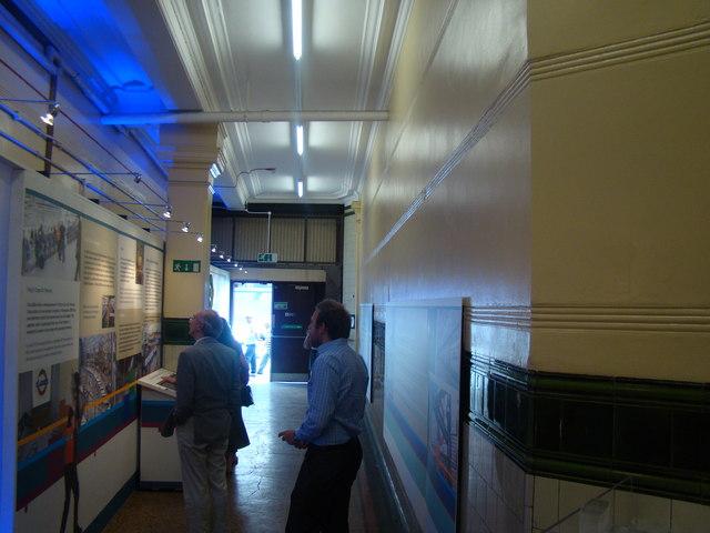 Inside Aldwych station forecourt