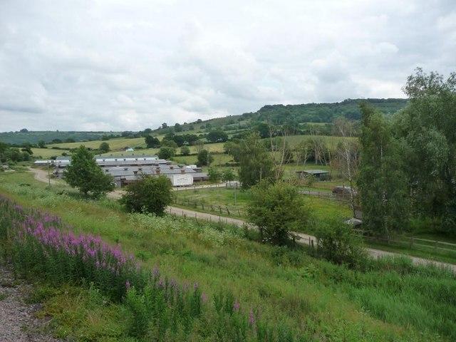 Railway embankment, by B4632