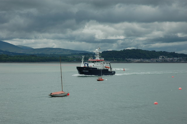 The Menai Strait from Beaumaris Pier