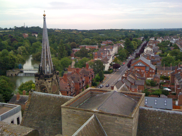 View from the tower of All Saints: 3/5