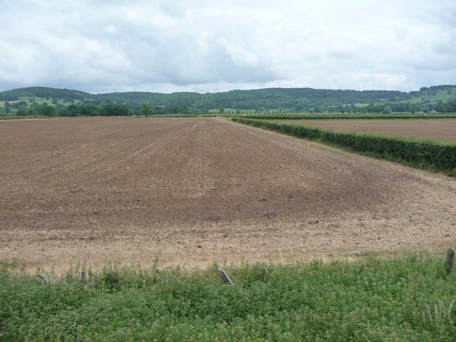 Ploughed fields near Toddington Station