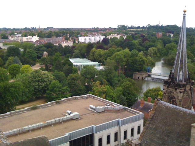 View from the tower of All Saints: 4/5
