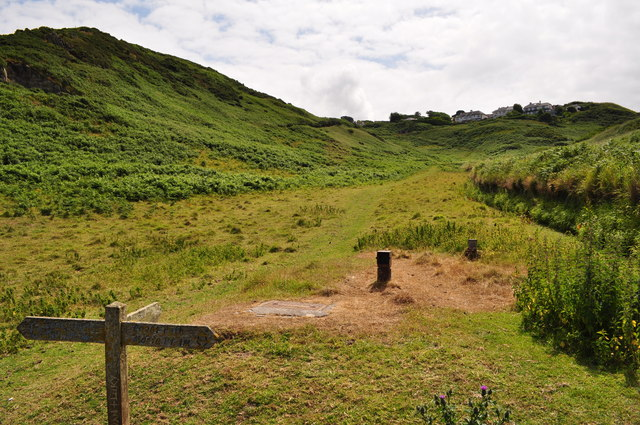 A path to Mortehoe between Bull Point and Morte Point