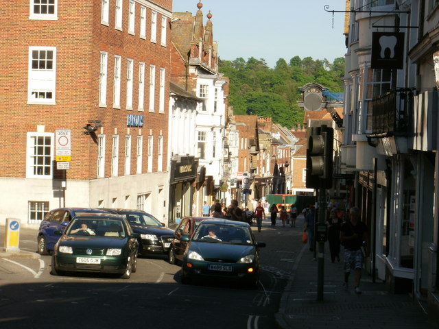 High Street, Winchester - view down