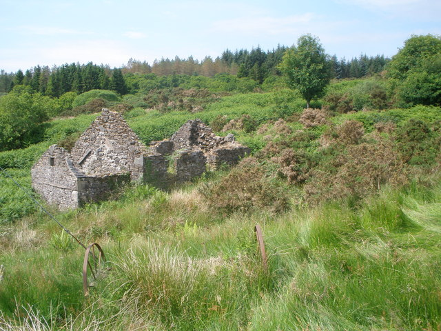 Ruined croft house of Middle Inens