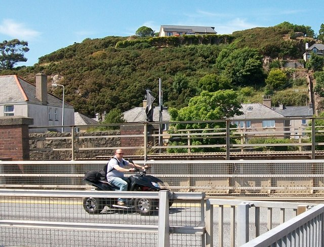 A handy mode of transport seen on the quay at Pwllheli