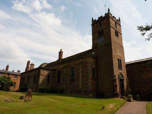 The parish church of St Andrew, Weston under Lizard