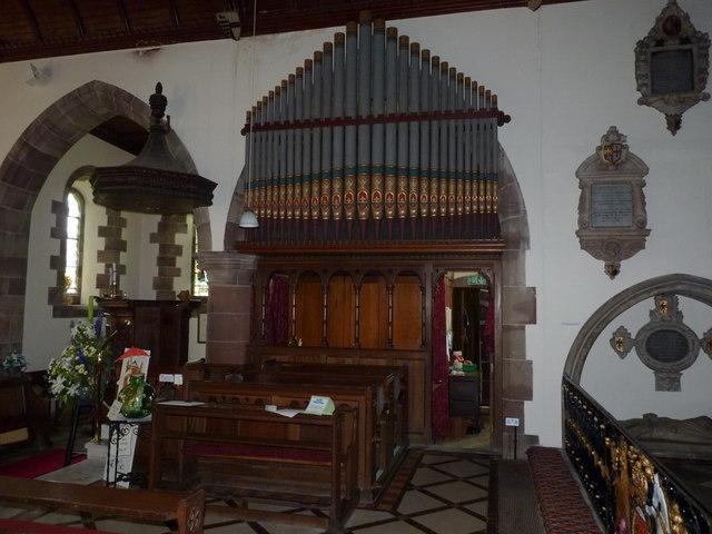 The church organ, St Andrew