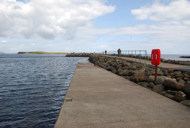 Staffin Pier and slipway