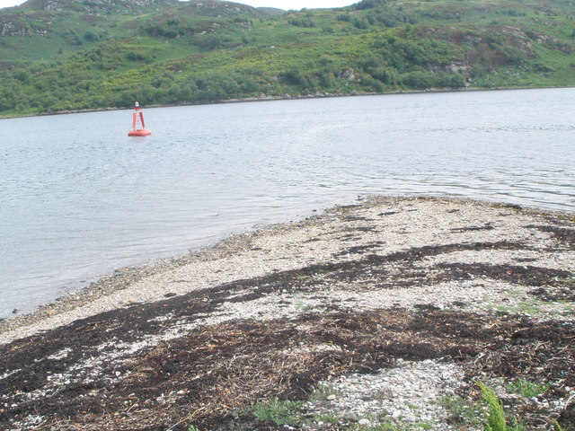 Marker buoy in the Kyles of Bute at Rubha Ban